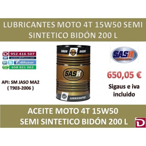 15W50 SEMI 4T 200 L