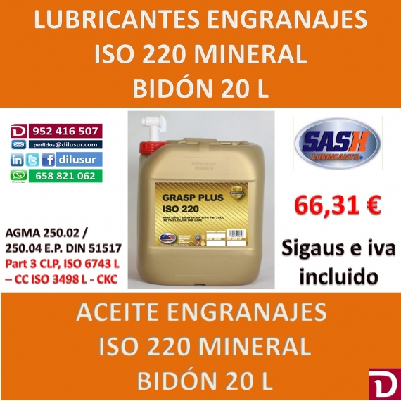 ACEITE ISO 220 20 L