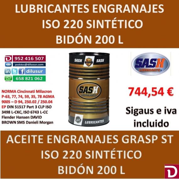 ACEITE ISO 220 ST 200 L