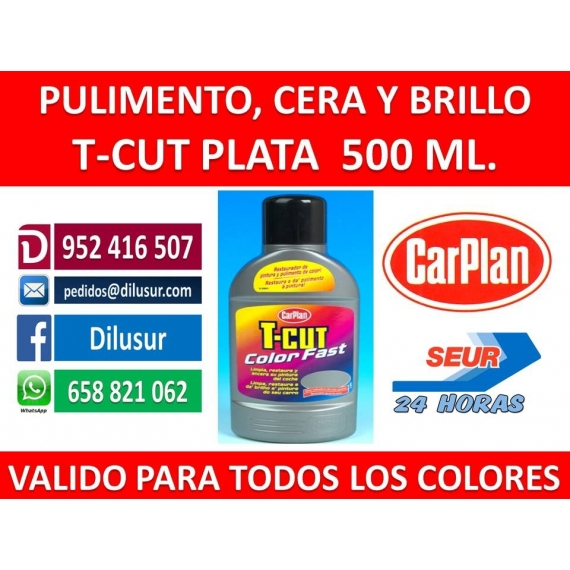 T-CUT COLOR FAST PLATA 500 ML.