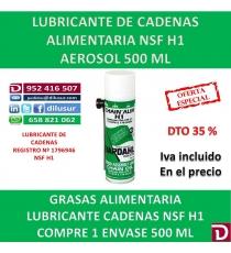LUBRICANTE CADENAS ALIMENTARIA NSF H1 500 ML.