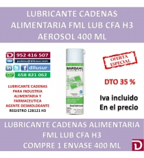 LUBRICANTE CADENAS FML LUBE 3H H3 400 ML