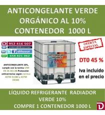 ANTICONGELANTE VERDE ORGANICO 10% 1000 L