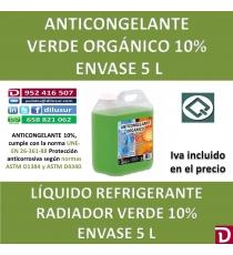 ANTICONGELANTE VERDE ORGÁNICO 10% 5 L