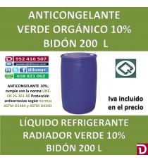 ANTICONGELANTE VERDE ORGANICO 10% 200 L