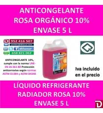 ANTICONGELANTE ROSA ORGÁNICO 10% 5 L