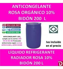 ANTICONGELANTE ROSA ORGANICO 10% 200 L