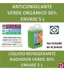 ANTICONGELANTE VERDE ORGÁNICO 30% 5 L
