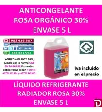 ANTICONGELANTE ROSA ORGÁNICO 30% 5 L
