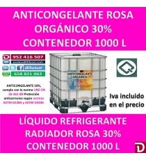 ANTICONGELANTE ROSA ORGANICO 30% 1000 L