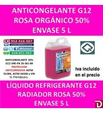 ANTICONGELANTE ROSA ORGÁNICO G12 50% 5 L