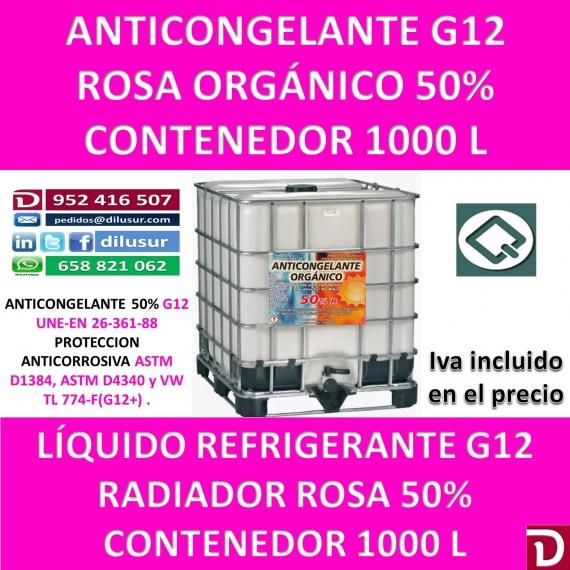 ANTICONGELANTE ROSA ORGÁNICO G12 50% 1000 L