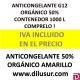 ANTICONGELANTE AMARILLO ORGÁNICO G12 50% 1000 L