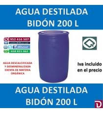 AGUA DESTILADA 200 L