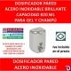DOSIFICADOR GEL 820 ML INOX