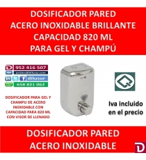 DOSIFICADOR GEL 820 ML INOX