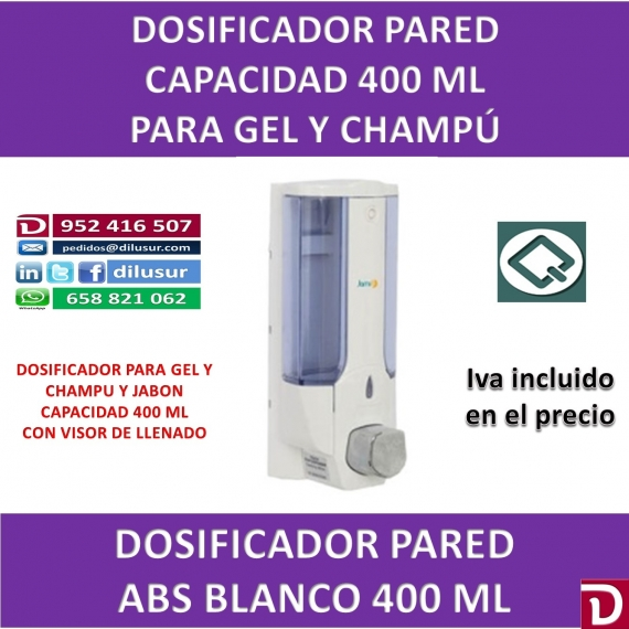 DOSIFICADOR GEL 400 ML ABS