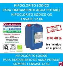 HIPOCLORITO SODICO 12 KG.