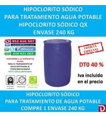 HIPOCLORITO SODICO QX 240 KG.