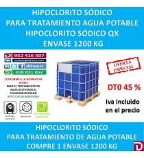 HIPOCLORITO SODICO QX 1200 KG.