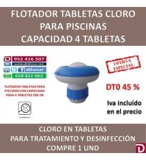 FLOTADOR CLORO CAP 4 T