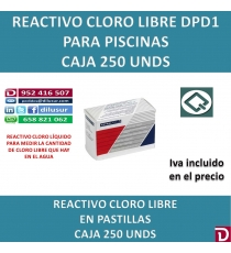 DPD1 REACTIVO CLORO LIBRE 250 UND.