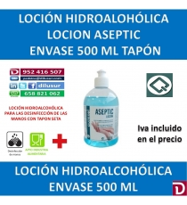 LOCION ASEPTIC TAPON 500 ML