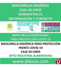 MASCARILLA HIGIENICA 50 UNDS