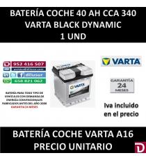 BATERIA COCHE VARTA 40AH A16