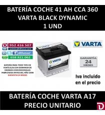 BATERIA COCHE VARTA 41AH A17