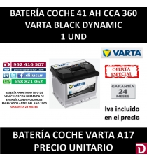 BATERIA COCHE VARTA 41 AH A17