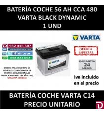BATERIA COCHE VARTA 56 AH C14