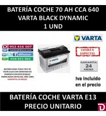 BATERIA COCHE VARTA 70 AH E13