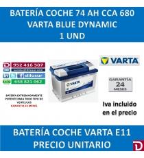BATERIA COCHE VARTA 74 AH E11