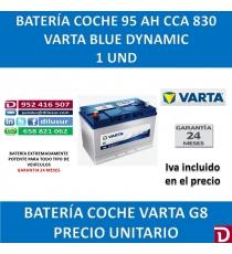 BATERIA COCHE VARTA 95 AH G8