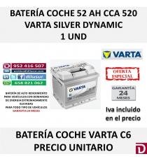 BATERIA COCHE VARTA 52 AH C6
