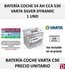 BATERIA COCHE VARTA 54 AH C30