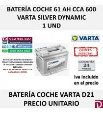 BATERIA COCHE VARTA 61 AH D21
