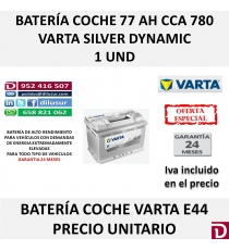 BATERIA COCHE VARTA 77 AH E44