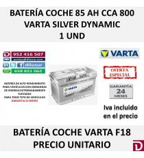 BATERIA COCHE VARTA 85 AH F18