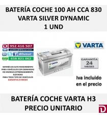 BATERIA COCHE VARTA 100 AH H3