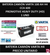 BATERIA CAMION VARTA 100 AH H4