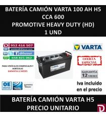 BATERIA CAMION VARTA 100 AH H5