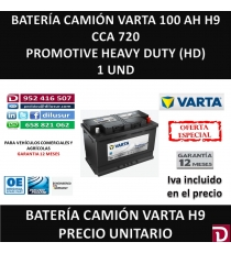 BATERIA CAMION VARTA 100 AH H9