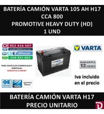 BATERIA CAMION VARTA 105 AH H17