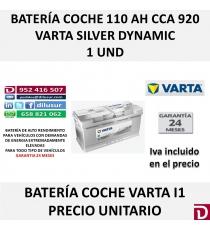 BATERIA COCHE VARTA 110 AH I1