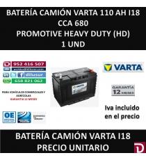 BATERIA CAMION VARTA 110 AH I18