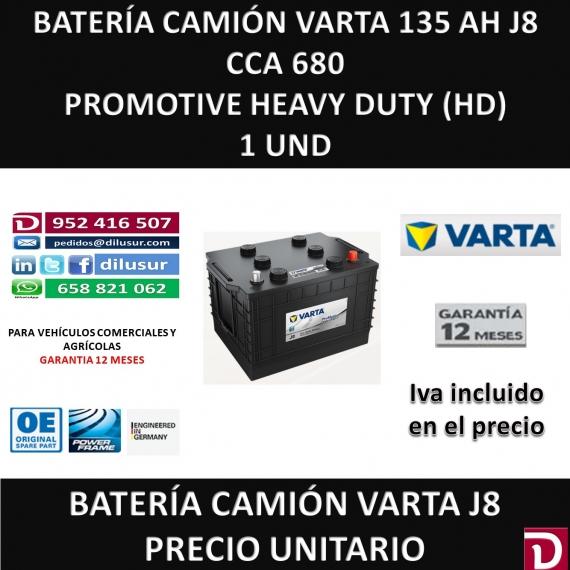 BATERIA CAMION VARTA 135 AH J8