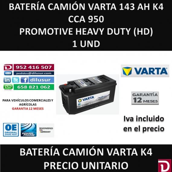 BATERIA CAMION VARTA 143 AH K4