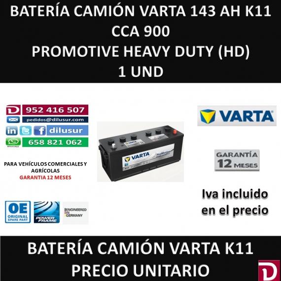 BATERIA CAMION VARTA 143 AH K11